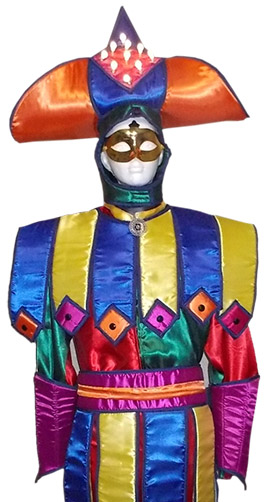 Stilt walker costume circus harlequin