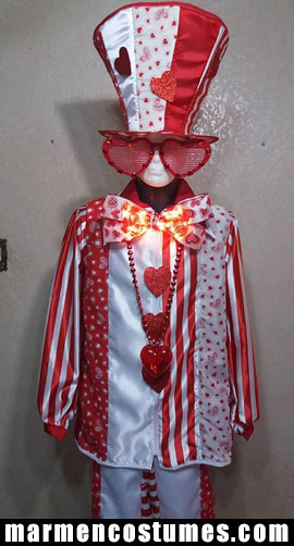 Mr. Valentine's day Stilt walker costume