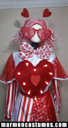 Mrs. Valentine's day Stilt walker costume