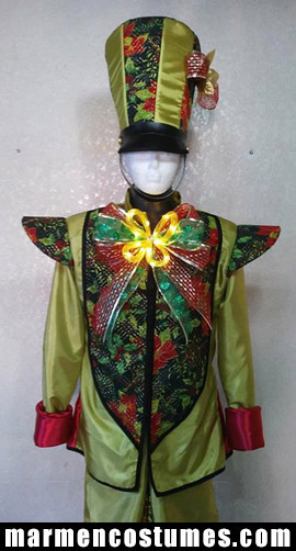 Stilt walker costume christmas green nutcracker