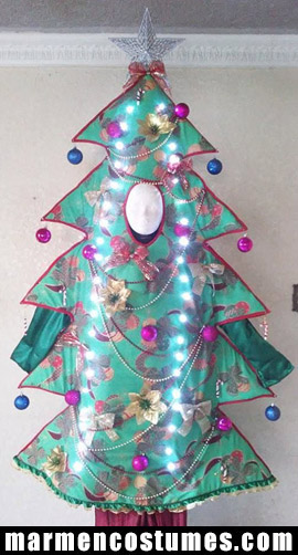 Stilt walker costume christmas tree