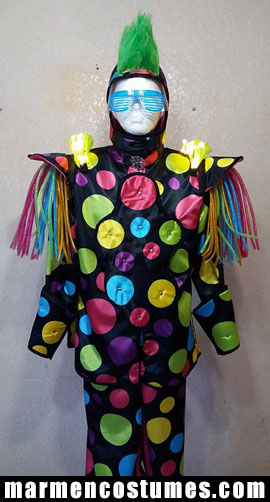 Stilt walker costume - color circles harlequin