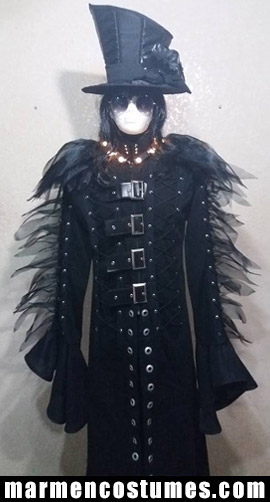Gothic knight stilt walker costume