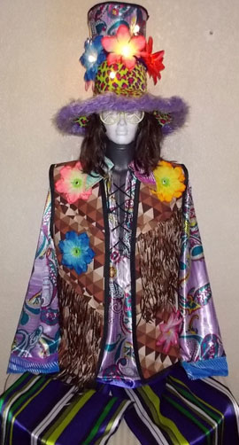 Stilt walker costume - hippie
