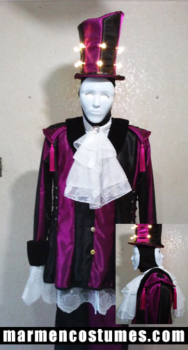 Stilt walker costume two face