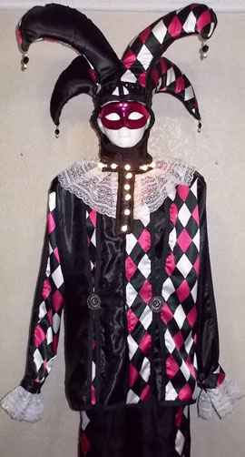 Stilt walker costume - venetian harlequin